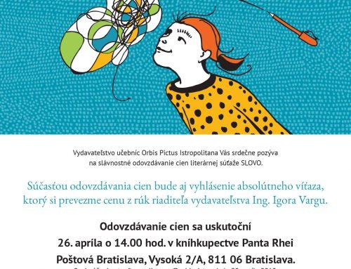 Pozvánka na slávnostné odovzdávanie cien SLOVO 2017