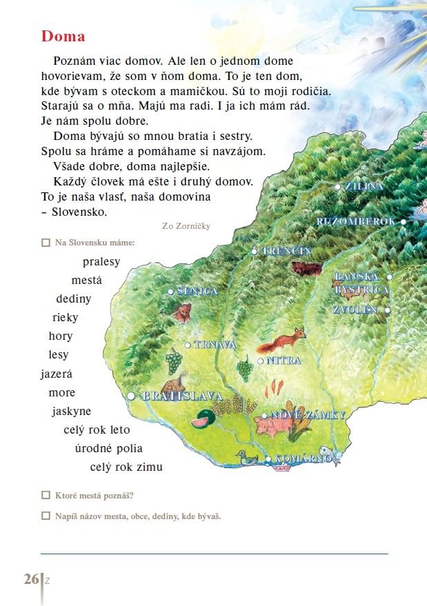 Náhľad: Čítanka pre 1. ročník (6)