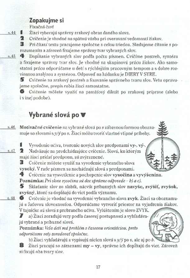 Náhľad: Metodické poznámky - Vybrané slová pre 3. roč. ZŠ (4)