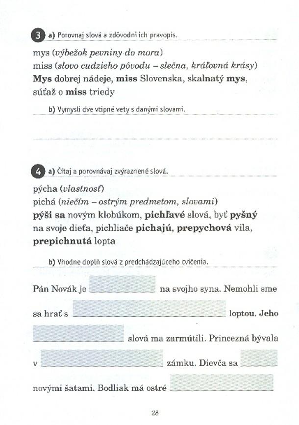 Náhľad: Metodické poznámky - Vybrané slová pre 3. roč. ZŠ (6)