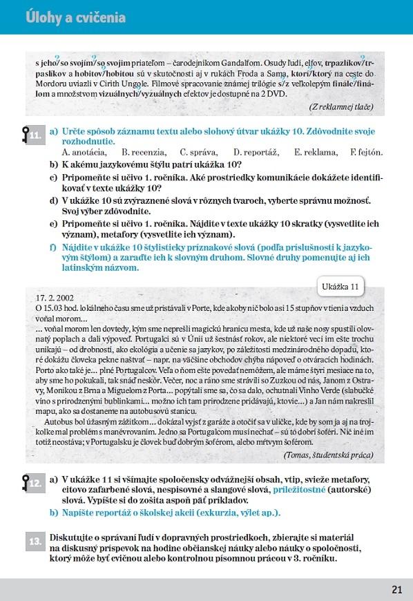 Náhľad: Slovenský jazyk 2 - Cvičebnica (3)