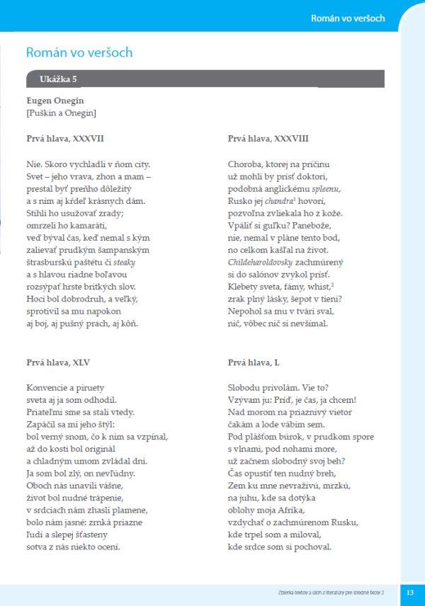 Náhľad: Zbierka textov a úloh z literatúry 2 (4)