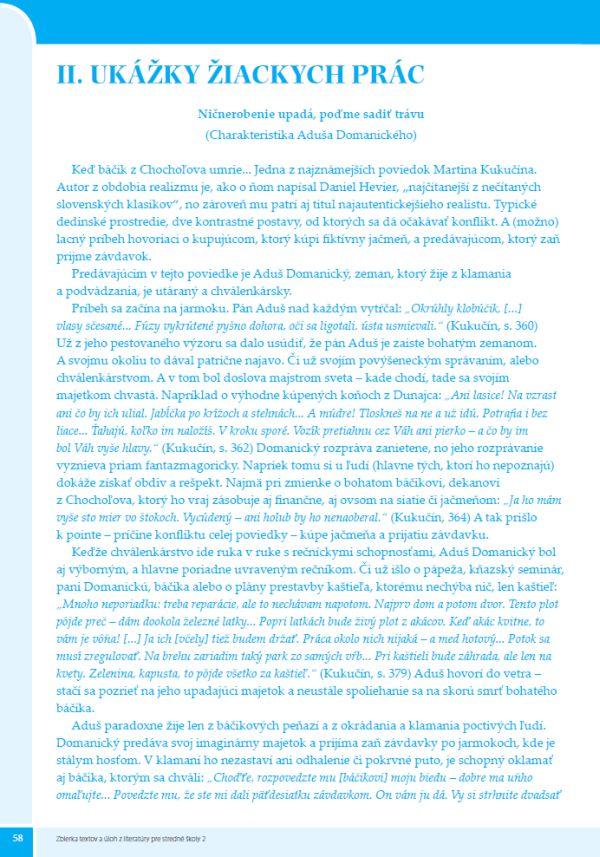 Náhľad: Zbierka textov a úloh z literatúry 2 (8)