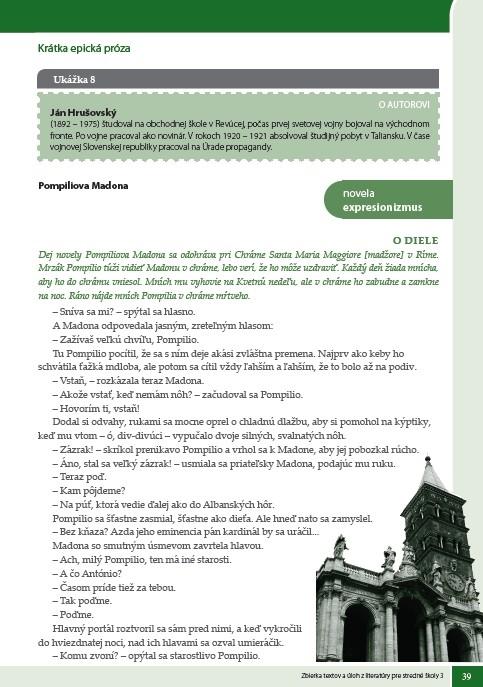 Náhľad: Zbierka textov a úloh z literatúry 3 (5)