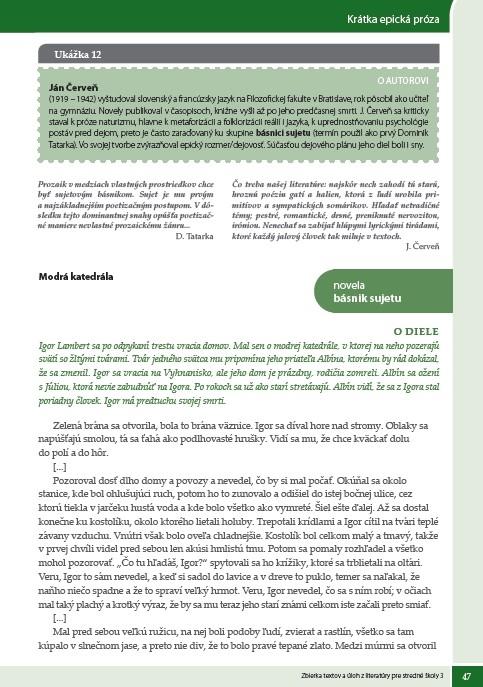 Náhľad: Zbierka textov a úloh z literatúry 3 (6)