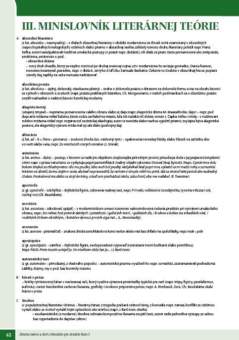 Náhľad: Zbierka textov a úloh z literatúry 3 (9)