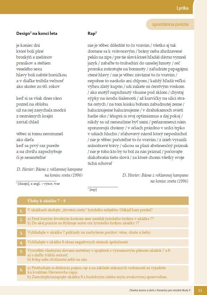 Náhľad: Zbierka textov a úloh z literatúry 4 (3)