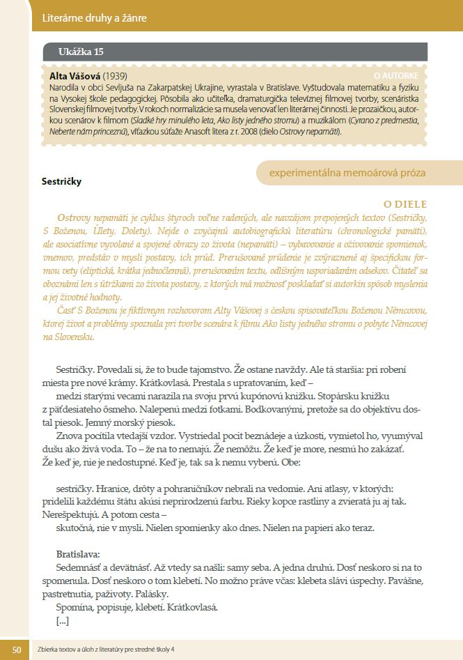 Náhľad: Zbierka textov a úloh z literatúry 4 (4)