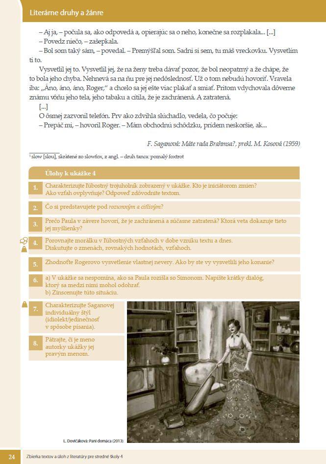 Náhľad: Zbierka textov a úloh z literatúry 4 (5)