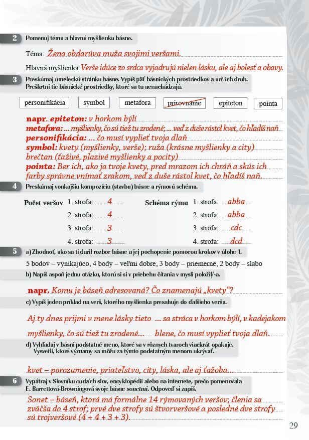 Náhľad: Zošit pre učiteľa - Pomocník z literatúry 8 ZŠ a 3 GOŠ (5)