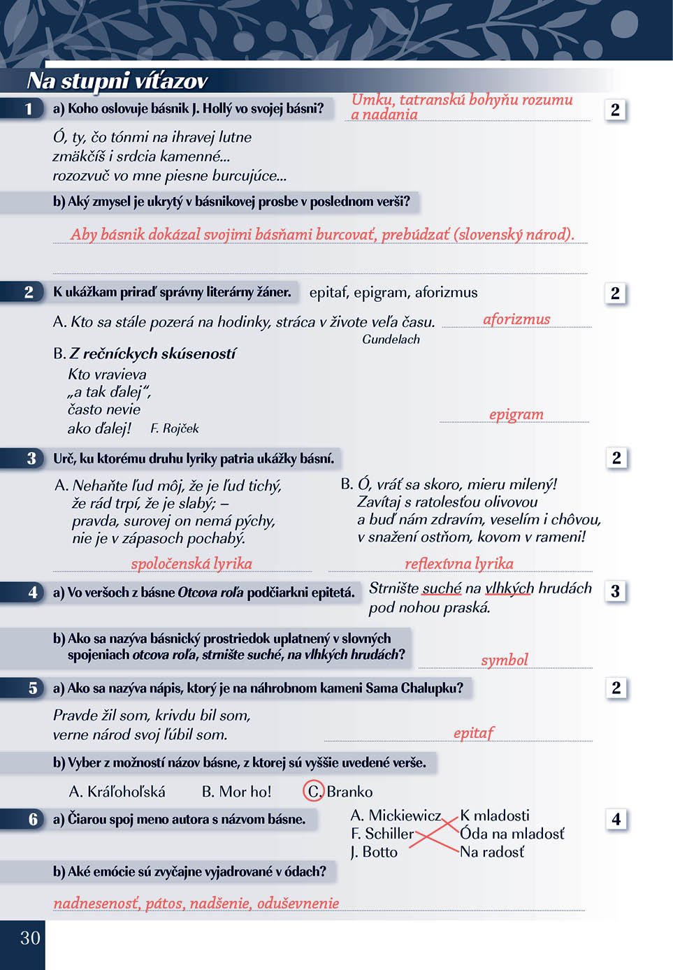 Náhľad: Zošit pre učiteľa - Pomocník z literatúry 9 ZŠ a 4 GOŠ (3)