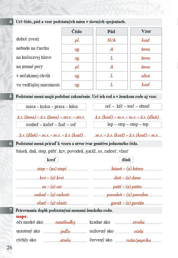 Náhľad: Zošit pre učiteľa - Pomocník zo SJ 5 ZŠ (5)