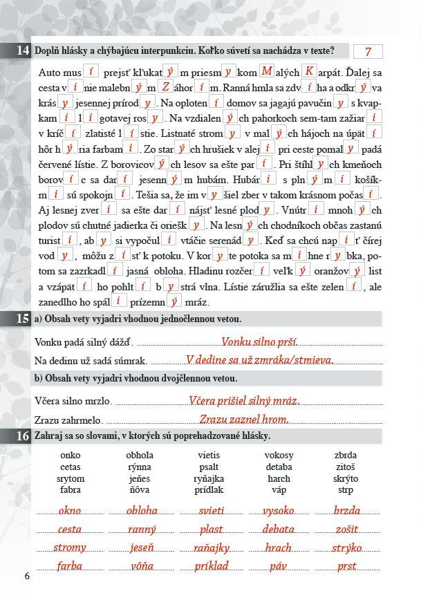Náhľad: Zošit pre učiteľa - Pomocník zo SJ 8 ZŠ a 3 GOŠ (2)
