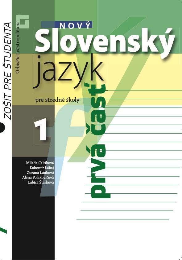 Náhľad: Nový Slovenský jazyk pre SŠ 1. roč. - Zošit pre študenta 1. časť