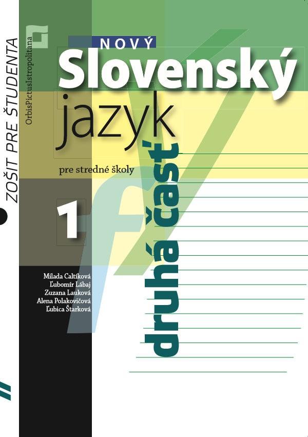 Náhľad: Nový Slovenský jazyk pre SŠ 1. roč. - Zošit pre študenta 2. časť