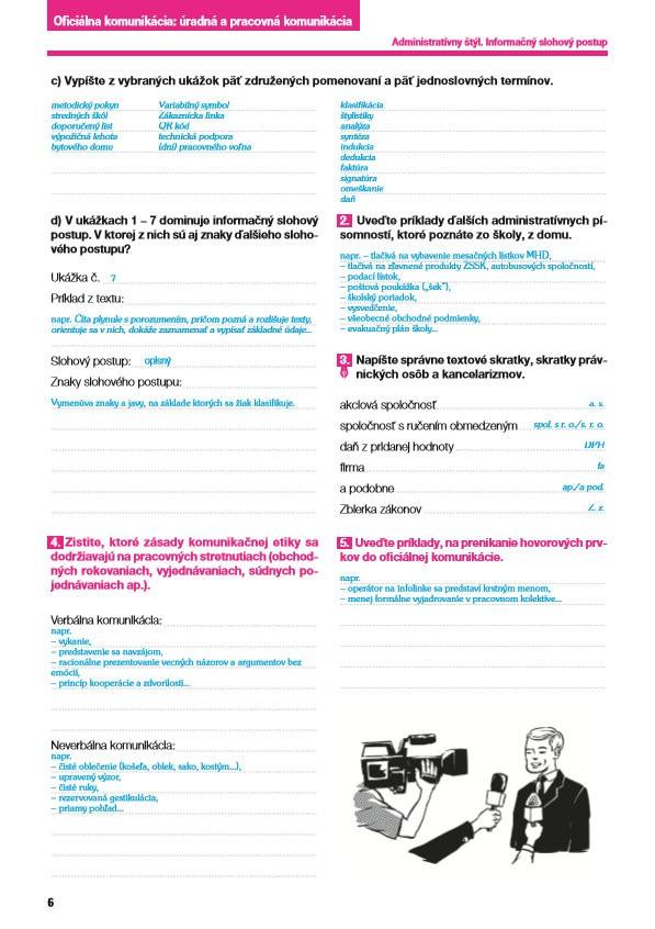 Náhľad: Nový Slovenský jazyk pre SŠ 1. roč. - Zošit pre učiteľa 2. časť (2)