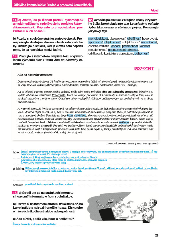 Náhľad: Nový Slovenský jazyk pre SŠ 1. roč. - Zošit pre učiteľa 2. časť (3)